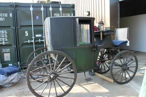 The carriage before work started