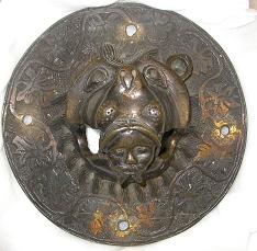 Lion head door knocker (ring missing)