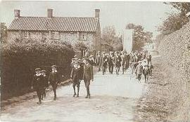 This photograph was taken in the North Norfolk village of Stibbard during the general strike of 1926 and shows marchers with a banner (though not the same one as featured in this blog). Reproduced with permission of Gresenhall Farm & Workhouse