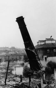 chimney being demolisehd