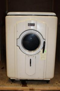 Bendix produced the first front loading automatic washing machine, in effect the one that today's machines are modelled on, this is a slightly later version of this (1950). It had to be anchored to the floor though to stop it moving off on its own!!
