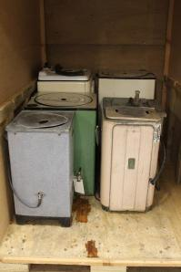 Small collection of 6 early washing machines. (1930s-1950s)