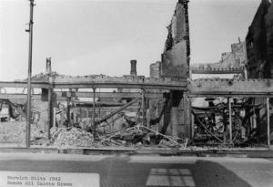 Bonds department store after bomb raid 1942