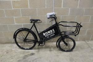 Bicycle used for deliveries by Bonds department store (Now John Lewis) - To find out more about bicycle's and their history see Ann-Marie's recent blog: https://shinealightproject.wordpress.com/2013/10/17/this-most-mysterious-animal-a-two-part-history-of-the-bicycle/