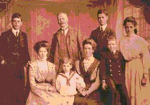 Leonard Bolingbroke with his family