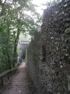 Wall leading to Black Tower.
