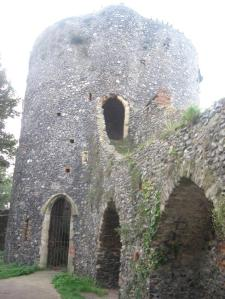Black Tower is the most complete section, including the tower itself and a long section of the wall which runs alongside Carrow Hill. A short distance away is Carrow bridge, where the ruins of two smaller towers are located.