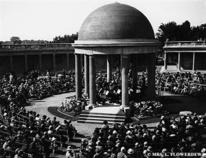 Eaton Park Bandstand being used 1920s
