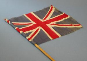This flag is part of our collection and was waved by its donor during the opening of Eaton Park by the Prince of Wales in 1925.