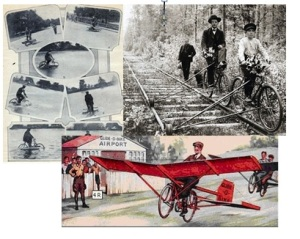 Inventors explored the idea of bicycles that could travel on water, railways and in the air.