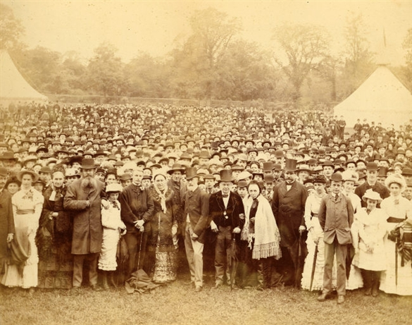 The Colman family and their employee's at a fete organised for a family celebration.