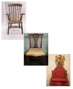 three stages of chairs