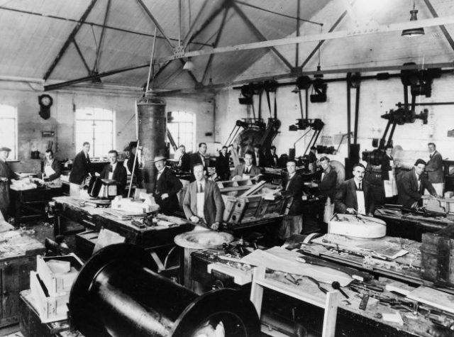 Laurence and Scott's Gothic Works, Pattern shop, 1920s